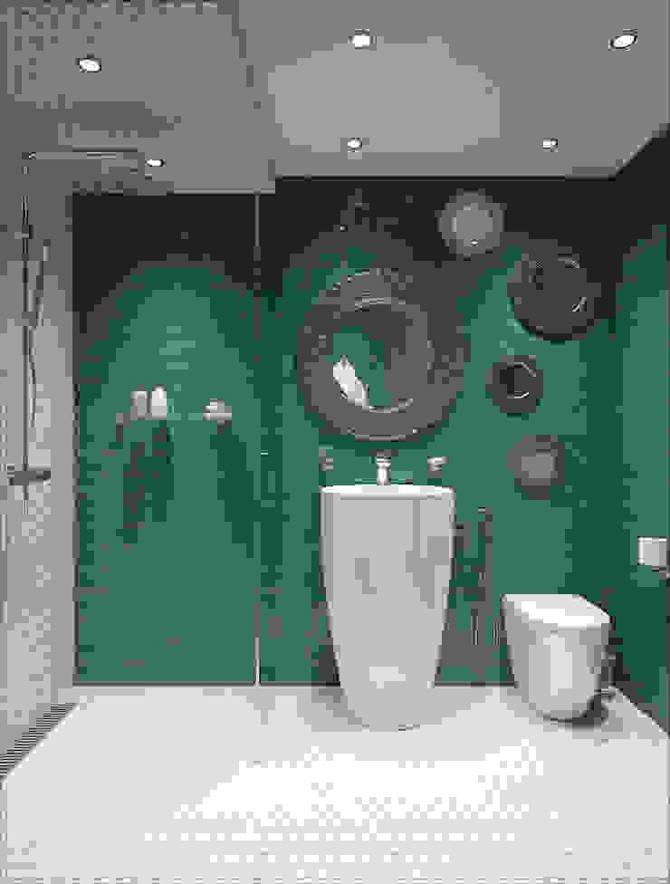 Baños de estilo industrial de Alexander Krivov Industrial Azulejos