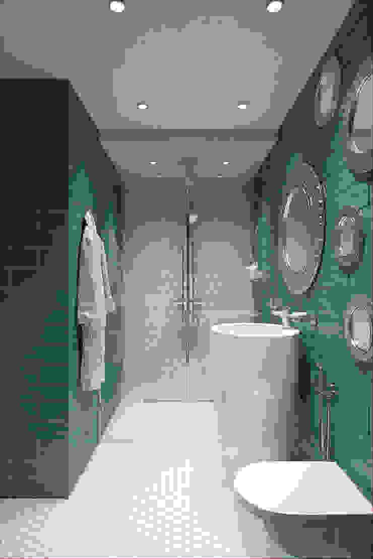 Salle de bain minimaliste par Alexander Krivov Minimaliste Tuiles