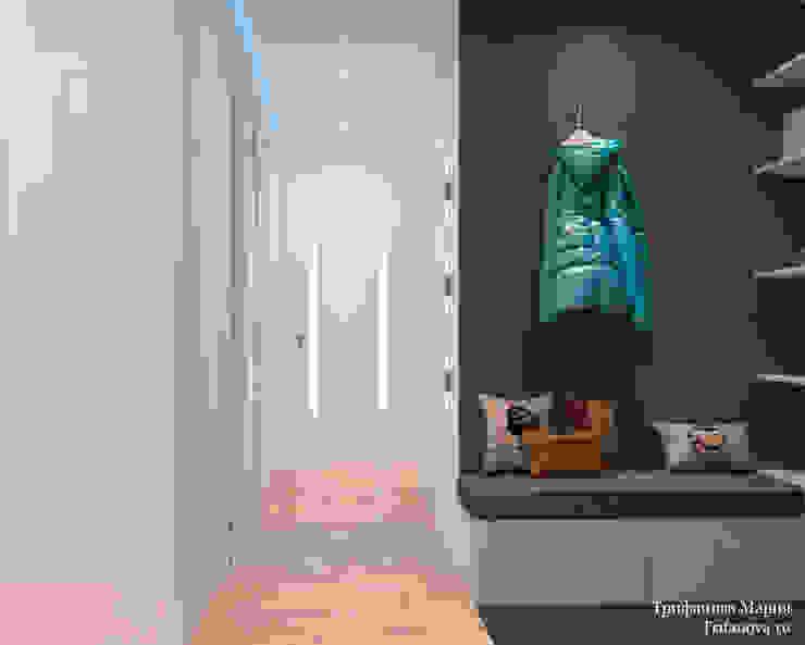 Мария Трифанова Minimalist corridor, hallway & stairs