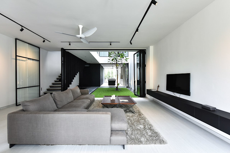Modern living room by Sen's Photographyたてもの写真工房すえひろ Modern