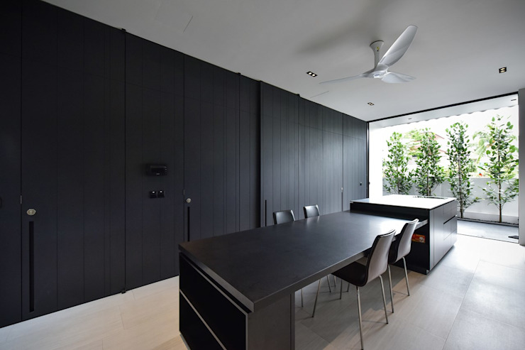Modern dining room by Sen's Photographyたてもの写真工房すえひろ Modern