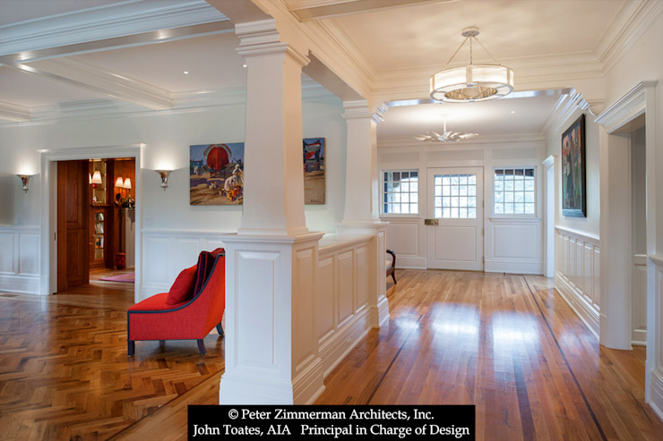 Entry Hall Classic style corridor, hallway and stairs by John Toates Architecture and Design Classic
