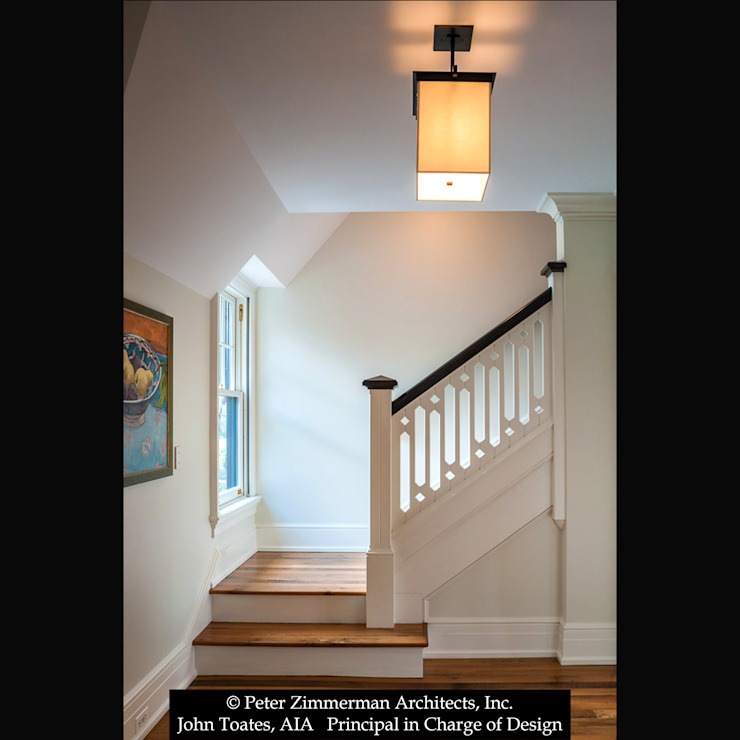 Stair Hall John Toates Architecture and Design Classic corridor, hallway & stairs White