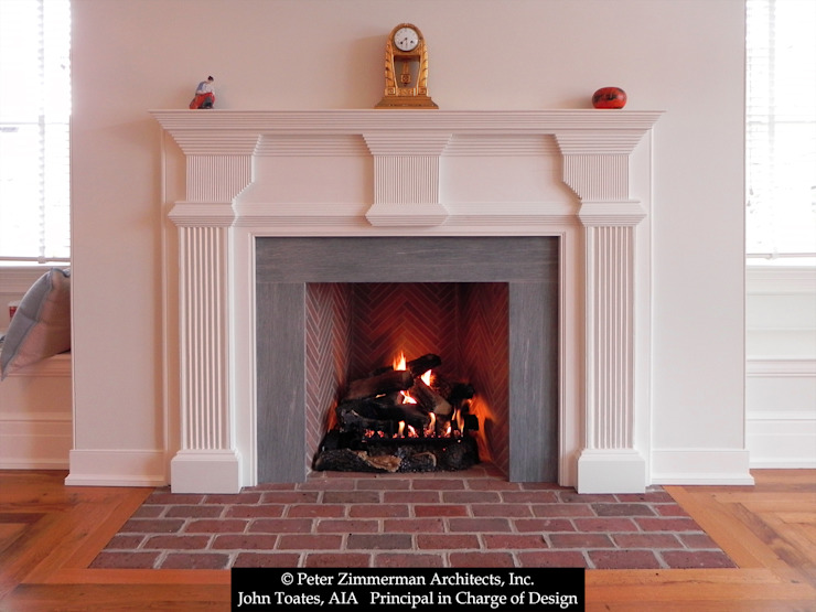 Fireplace John Toates Architecture and Design Classic style bedroom