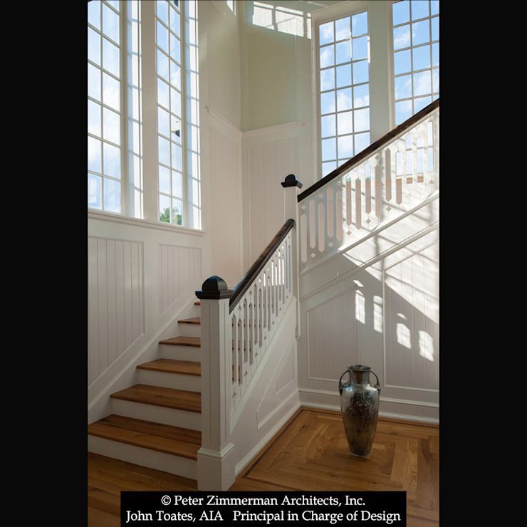 Stair Hall John Toates Architecture and Design Classic corridor, hallway & stairs