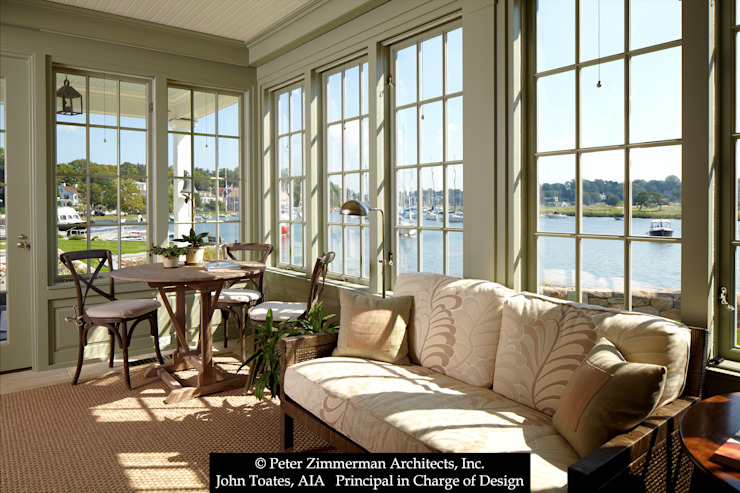 Enclosed Porch John Toates Architecture and Design Classic style balcony, porch & terrace