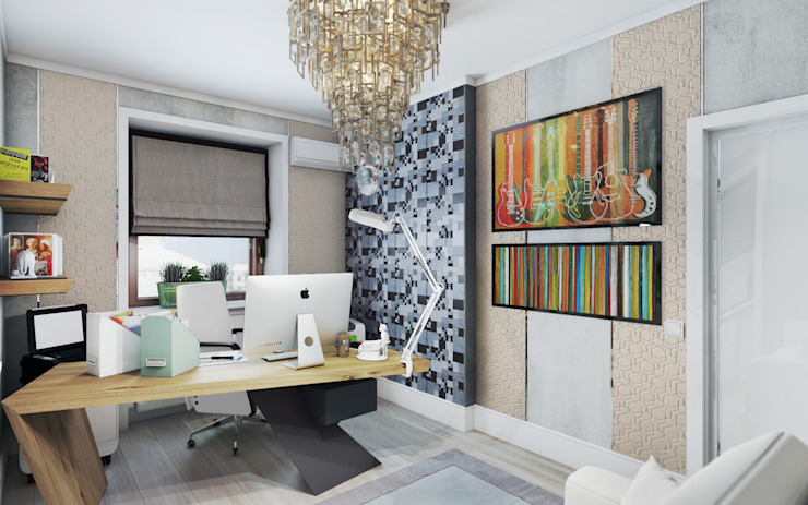 Study/office by homify, Eclectic