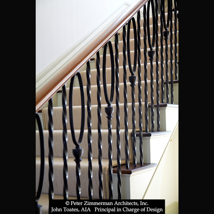 Stair John Toates Architecture and Design Classic corridor, hallway & stairs