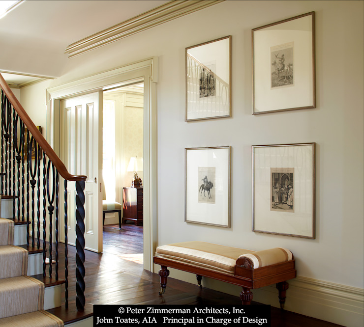 Entry Hall John Toates Architecture and Design Classic corridor, hallway & stairs