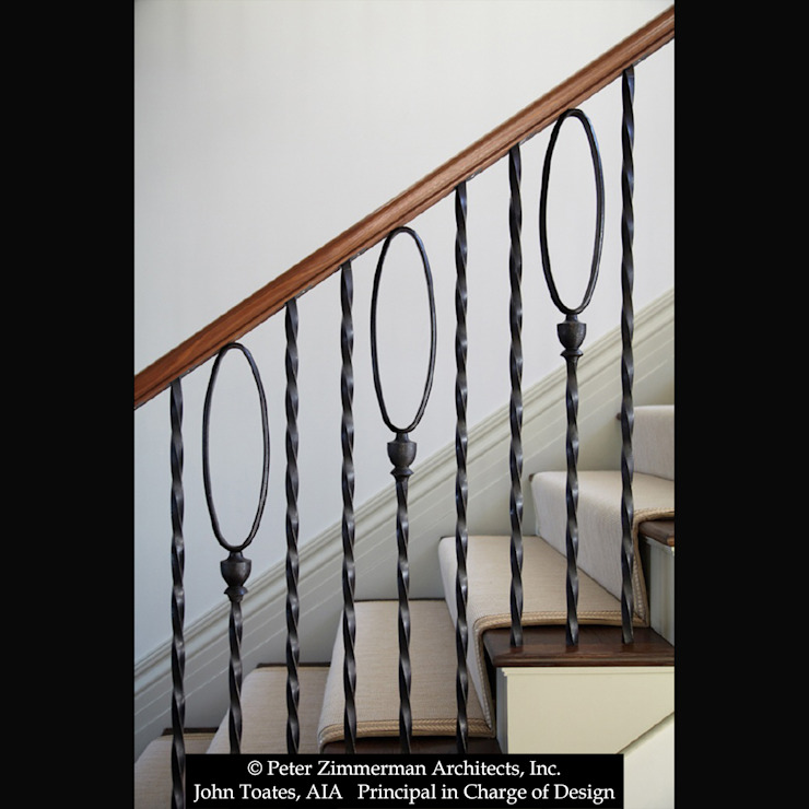Railing Detail John Toates Architecture and Design Classic corridor, hallway & stairs