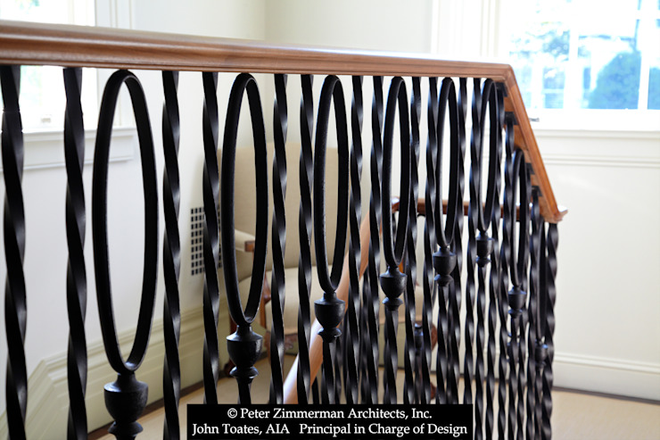 Stair Railing Detail John Toates Architecture and Design Classic corridor, hallway & stairs