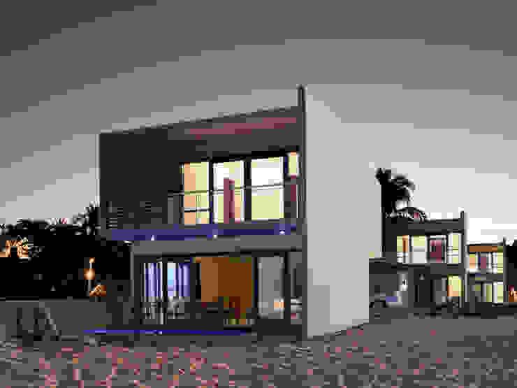 FACHADA PRINCIPAL Casas modernas de MUTAR Arquitectura Moderno