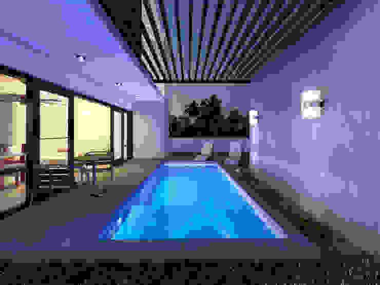 PISCINA: Albercas de estilo  por MUTAR Arquitectura,