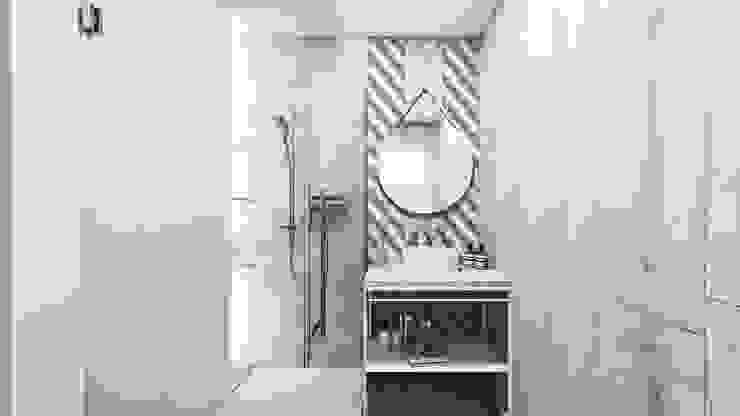Mieszkanie Sosnowiec Nowoczesna łazienka od FOORMA Pracownia Architektury Wnętrz Nowoczesny