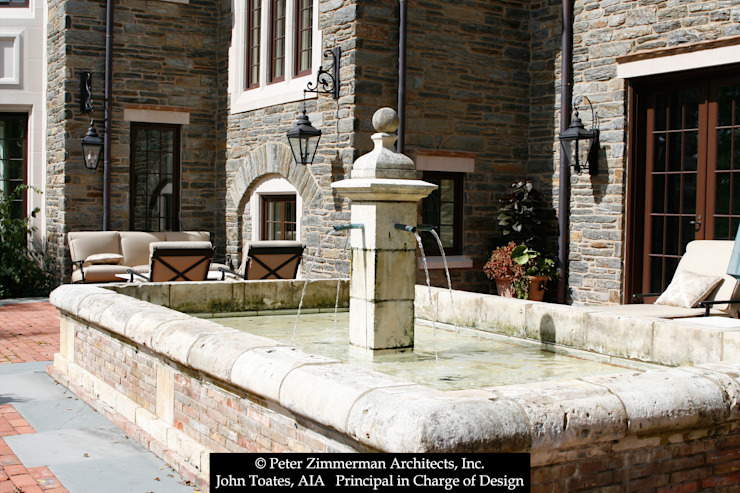 Fountain John Toates Architecture and Design Classic style houses