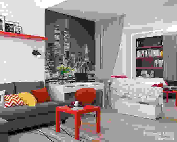 Однокомнатная квартира в Обнинске Гостиная в стиле минимализм от Мария Трифанова Минимализм