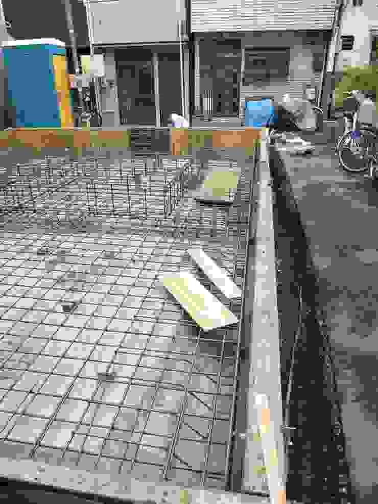 基礎工事中 の 株式会社 藤本高志建築設計事務所