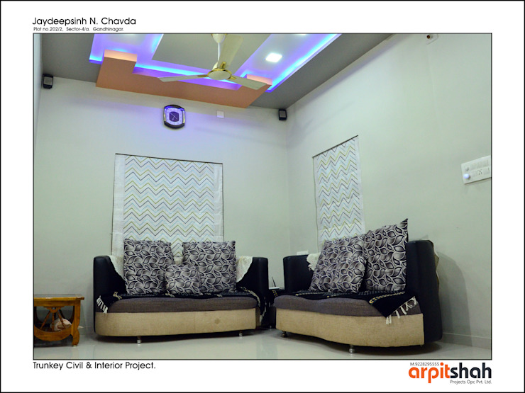 Jaydip Sinh Chavda @ Gandhinagar by ARPIT SHAH PROJECTS OPC PVT LTD.