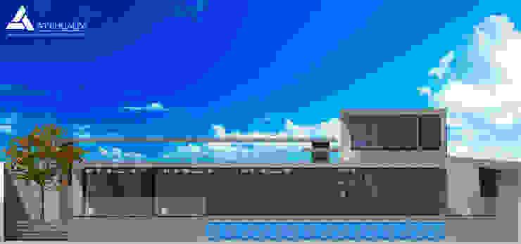 Fachada Norte Casas modernas de Atahualpa 3D Moderno
