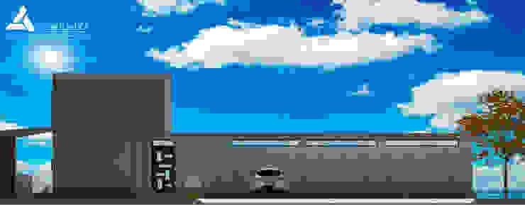 Fachada Sur Casas modernas de Atahualpa 3D Moderno
