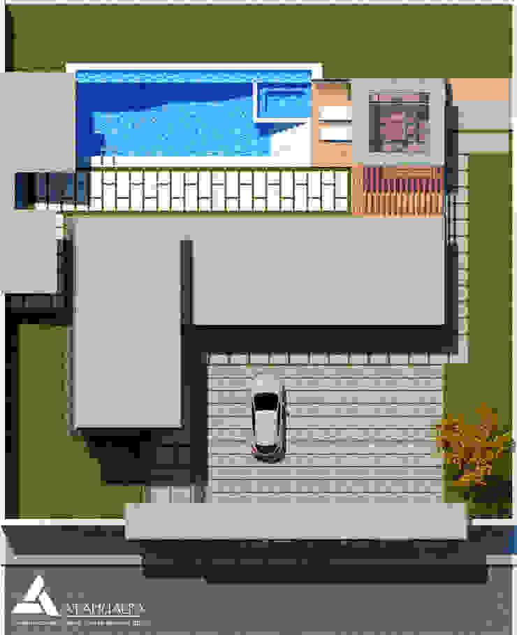 Planta Techo Casas modernas de Atahualpa 3D Moderno