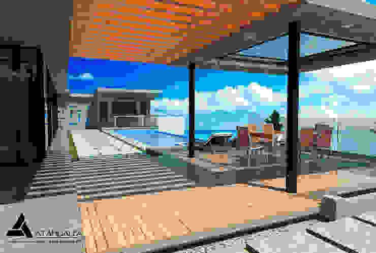 Render Vista Terraza Balcones y terrazas de estilo moderno de Atahualpa 3D Moderno