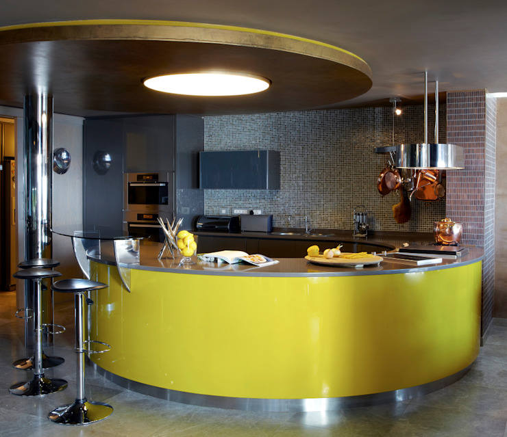 Head Road Glamour Jenny Mills Architects Modern kitchen Yellow
