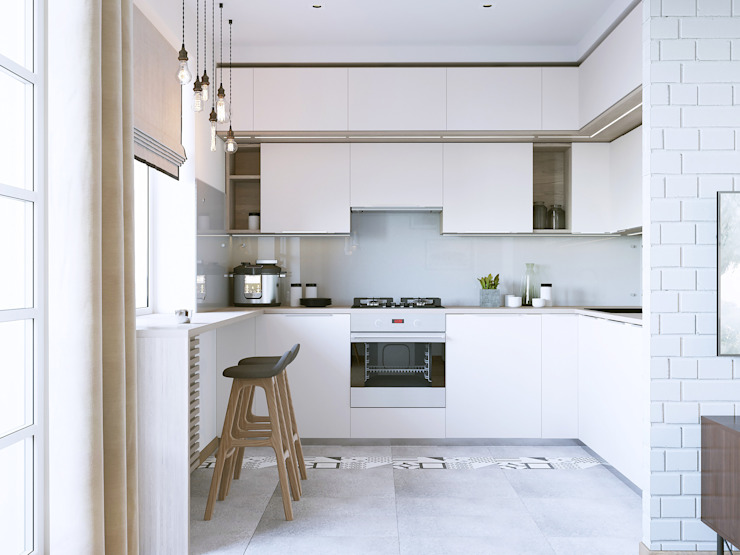 Minimalist kitchen by Бюро9 - Екатерина Ялалтынова Minimalist