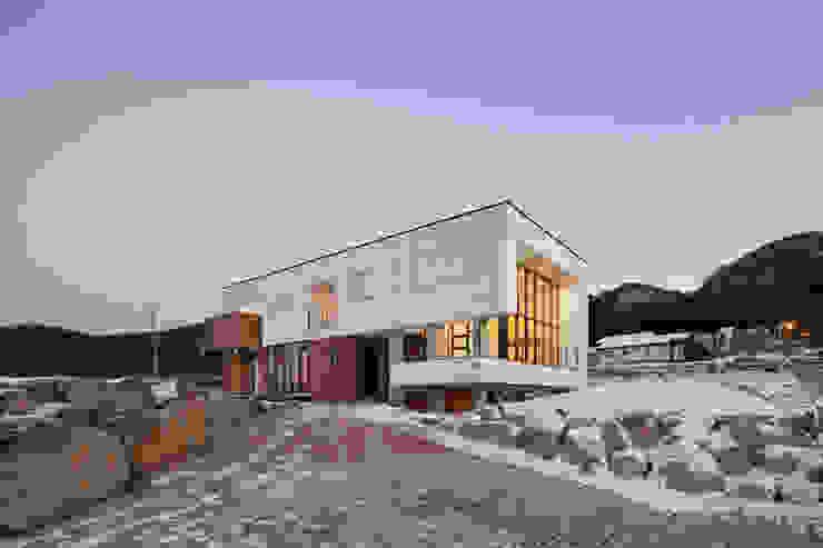 완주 누마루 ㅡ자 집 모던스타일 주택 by 리슈건축 모던