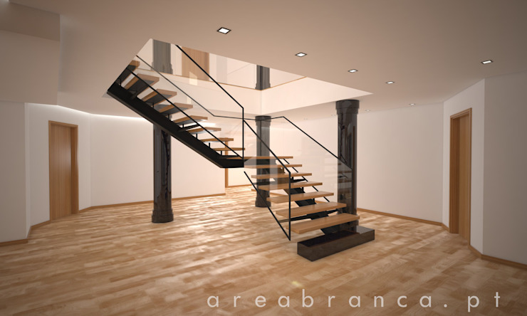 Corredor | Hall Corredores, halls e escadas modernos por Areabranca Moderno