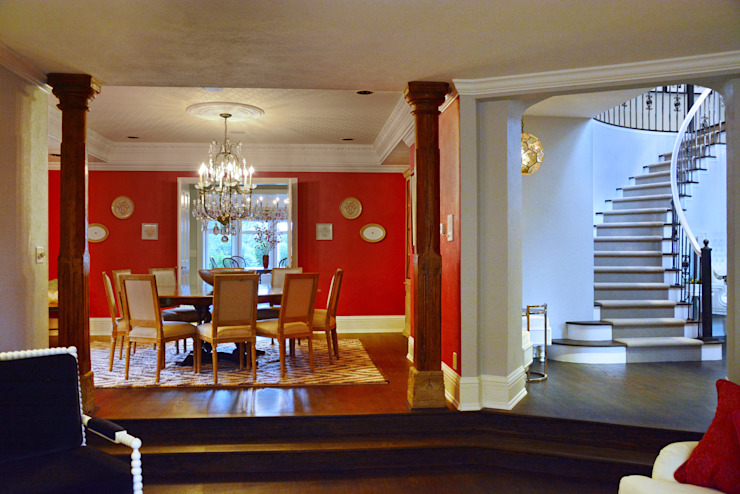 Cherry Hills Charmer Classic style dining room by Andrea Schumacher Interiors Classic