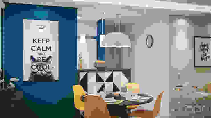 Apartamento pequeno, grande reforma Salas de jantar modernas por Lúcia Vale Interiores Moderno