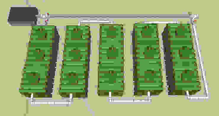 Microplantas Instaladas en Serie Baños rústicos de Innovaciones Ecologicas Rústico