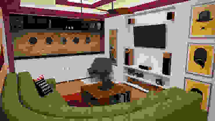 Phòng khách theo Rbritointeriorismo, Hiện đại