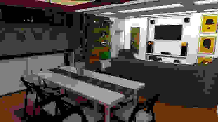 Apartamento pequeño con espacios multifuncionales y/o convertibles de Rbritointeriorismo Moderno