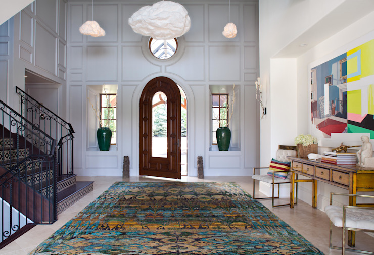 Buell Mansion Remix Classic style corridor, hallway and stairs by Andrea Schumacher Interiors Classic