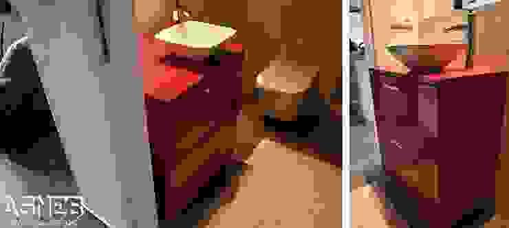 AS-MEB Klassische Badezimmer MDF Rot