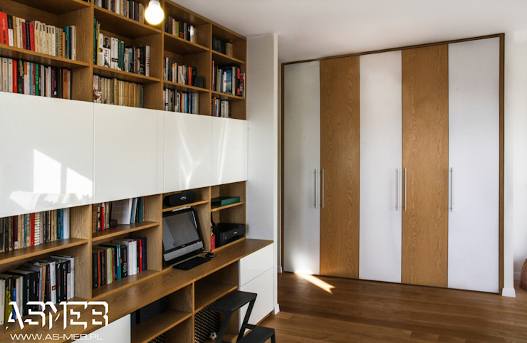 AS-MEB Classic style study/office Chipboard Wood effect