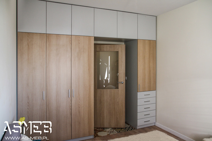 AS-MEB Classic style bedroom Chipboard Wood effect