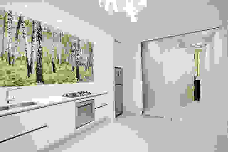 White and green Cucina moderna di mg2 architetture Moderno