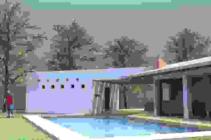 PALAPA TENEXTEPEC Jardines minimalistas de AD+d Minimalista