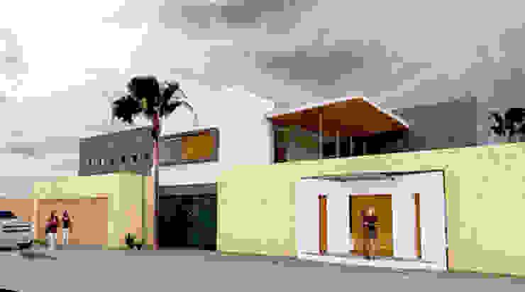 VISTA EXTERIOR Casas minimalistas de AD+d Minimalista