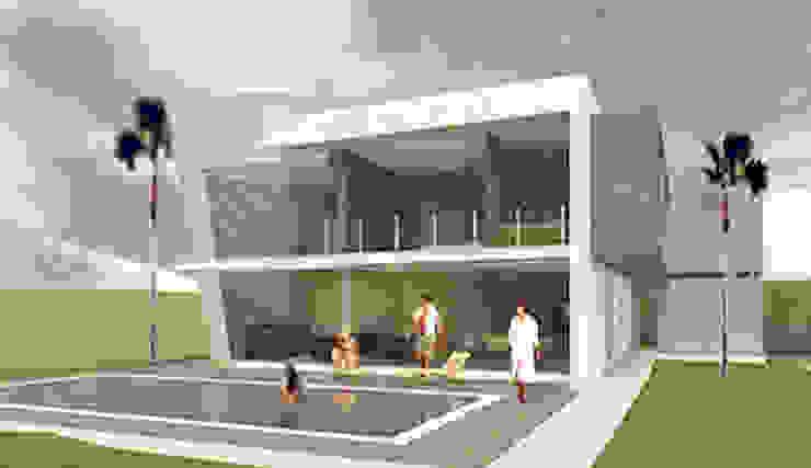 FACHADA POSTERIOR Casas minimalistas de AD+d Minimalista