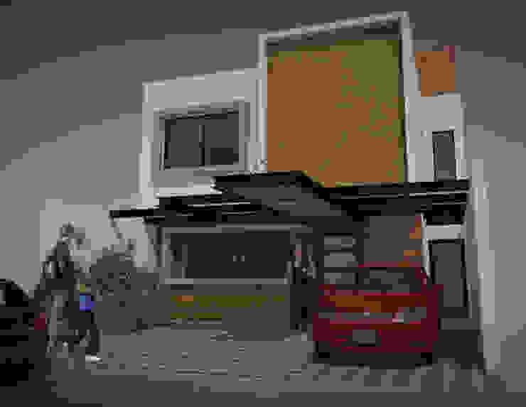 FACHADA PRINCIPAL CASA CH Casas minimalistas de AD+d Minimalista