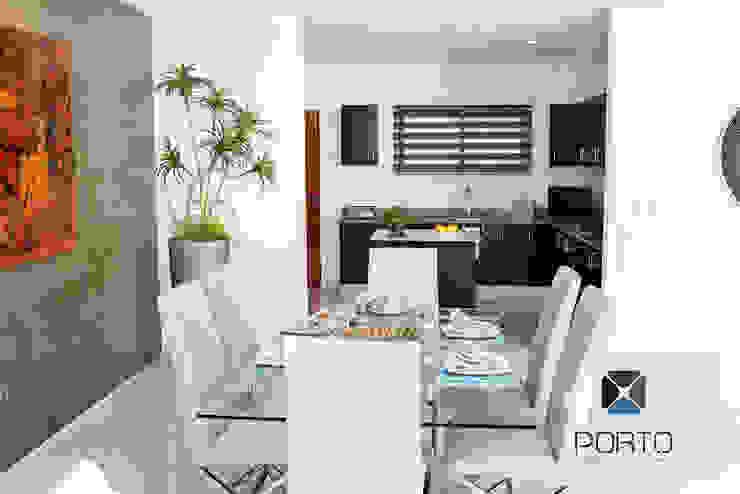 Modern dining room by PORTO Arquitectura + Diseño de Interiores Modern
