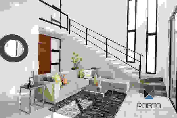 PORTO Arquitectura + Diseño de Interiores ห้องนั่งเล่น