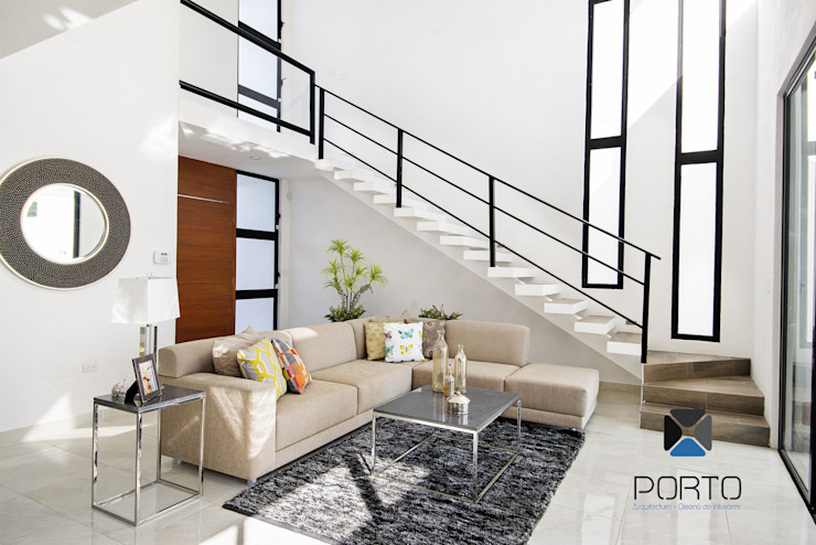 Modern living room by PORTO Arquitectura + Diseño de Interiores Modern