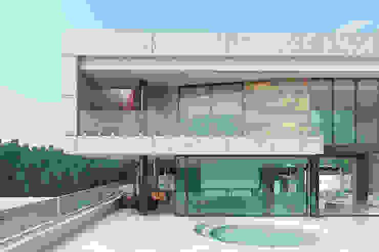 Detalle fachada principal Casas modernas de Area5 arquitectura SAS Moderno Concreto
