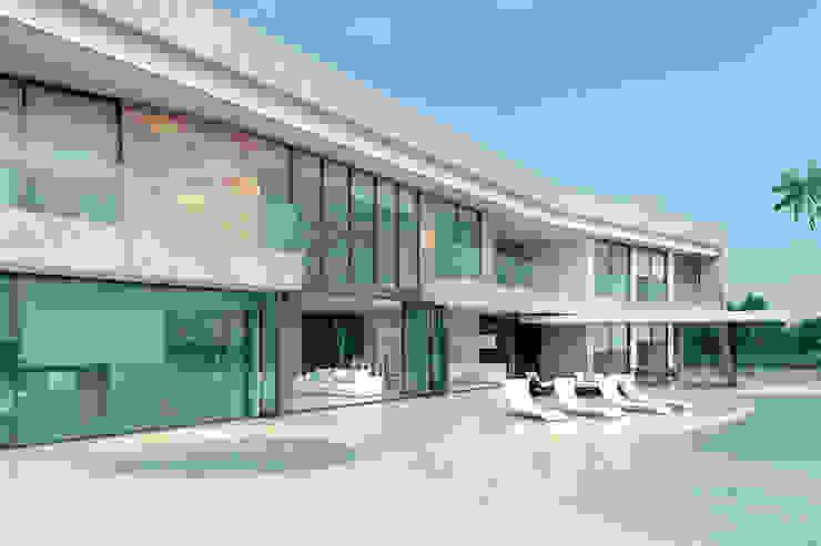 Fachada principal Casas modernas de Area5 arquitectura SAS Moderno Concreto