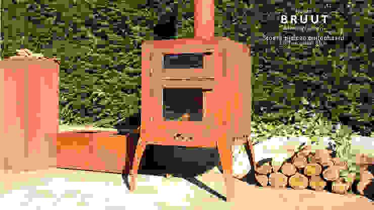 outdoor fireplace 'BRUUT' van PRODUCTLAB we create Industrieel IJzer / Staal